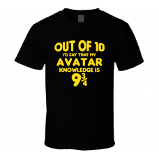 Avatar Out Of Ten Nine And Three Quarters Knowledge Funny Fan Gift T Shirt